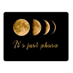 Moon phases  Double Sided Fleece Blanket (Small)