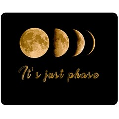 Moon phases  Double Sided Fleece Blanket (Medium)