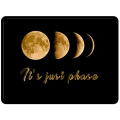 Moon phases  Double Sided Fleece Blanket (Large)