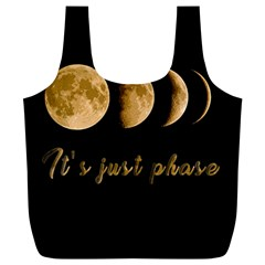 Moon phases  Full Print Recycle Bags (L)