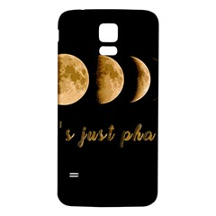Moon phases  Samsung Galaxy S5 Back Case (White)