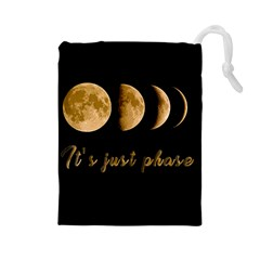 Moon phases  Drawstring Pouches (Large)