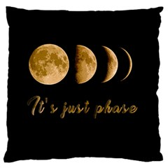 Moon phases  Large Flano Cushion Case (One Side)
