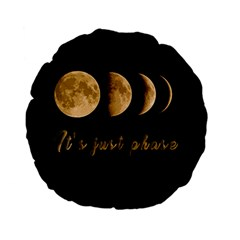 Moon phases  Standard 15  Premium Flano Round Cushions