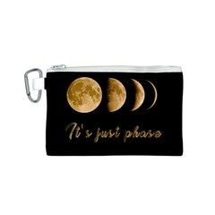 Moon phases  Canvas Cosmetic Bag (S)