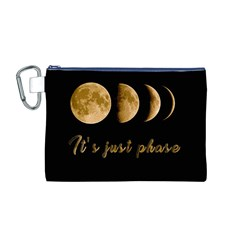 Moon phases  Canvas Cosmetic Bag (M)