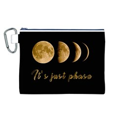 Moon phases  Canvas Cosmetic Bag (L)