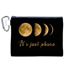 Moon phases  Canvas Cosmetic Bag (XL)