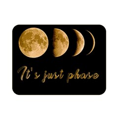 Moon Phases  Double Sided Flano Blanket (mini)