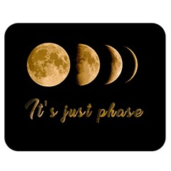 Moon phases  Double Sided Flano Blanket (Medium)