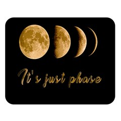 Moon phases  Double Sided Flano Blanket (Large)