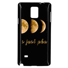 Moon phases  Samsung Galaxy Note 4 Case (Black)