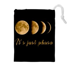 Moon phases  Drawstring Pouches (Extra Large)