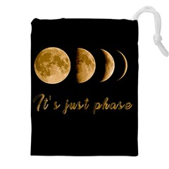 Moon phases  Drawstring Pouches (XXL)