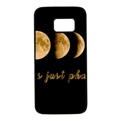 Moon phases  Samsung Galaxy S7 Black Seamless Case