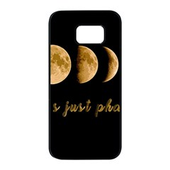 Moon phases  Samsung Galaxy S7 edge Black Seamless Case