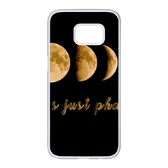 Moon phases  Samsung Galaxy S7 edge White Seamless Case