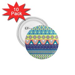 Tribal Print 1 75  Buttons (10 Pack)