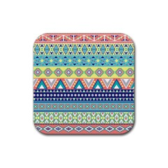 Tribal Print Rubber Square Coaster (4 Pack)