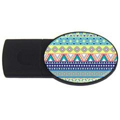 Tribal Print USB Flash Drive Oval (1 GB)