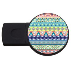 Tribal Print Usb Flash Drive Round (4 Gb)