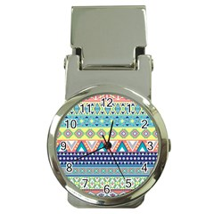 Tribal Print Money Clip Watches