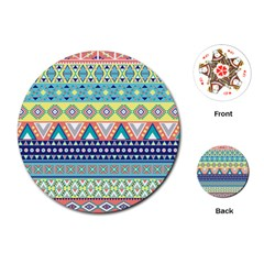 Tribal Print Playing Cards (Round)