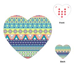 Tribal Print Playing Cards (heart)