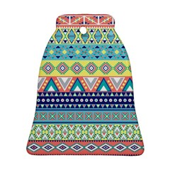 Tribal Print Bell Ornament (two Sides)