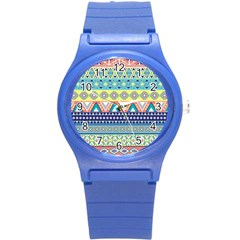 Tribal Print Round Plastic Sport Watch (s)
