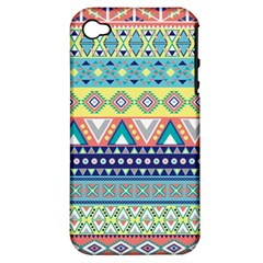 Tribal Print Apple iPhone 4/4S Hardshell Case (PC+Silicone)
