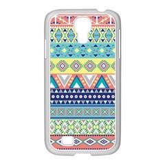 Tribal Print Samsung Galaxy S4 I9500/ I9505 Case (white)