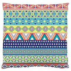 Tribal Print Large Flano Cushion Case (two Sides)