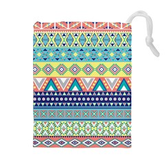 Tribal Print Drawstring Pouches (extra Large)