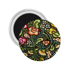 Bohemia Floral Pattern 2.25  Magnets
