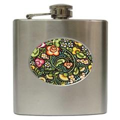 Bohemia Floral Pattern Hip Flask (6 oz)