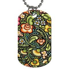 Bohemia Floral Pattern Dog Tag (Two Sides)