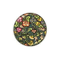 Bohemia Floral Pattern Hat Clip Ball Marker (4 pack)