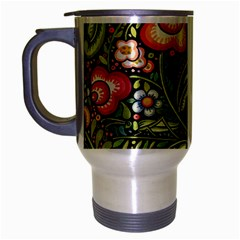 Bohemia Floral Pattern Travel Mug (silver Gray)