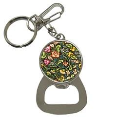 Bohemia Floral Pattern Button Necklaces