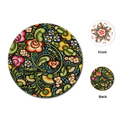 Bohemia Floral Pattern Playing Cards (Round)