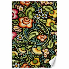 Bohemia Floral Pattern Canvas 24  x 36