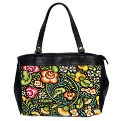 Bohemia Floral Pattern Office Handbags (2 Sides)