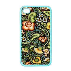 Bohemia Floral Pattern Apple iPhone 4 Case (Color)