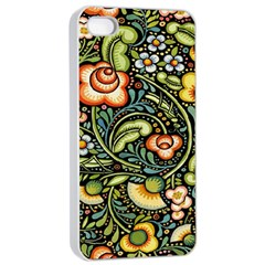 Bohemia Floral Pattern Apple Iphone 4/4s Seamless Case (white)