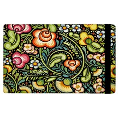 Bohemia Floral Pattern Apple iPad 3/4 Flip Case
