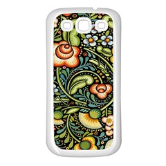 Bohemia Floral Pattern Samsung Galaxy S3 Back Case (white)