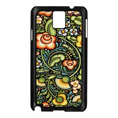 Bohemia Floral Pattern Samsung Galaxy Note 3 N9005 Case (Black)