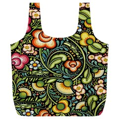 Bohemia Floral Pattern Full Print Recycle Bags (L)