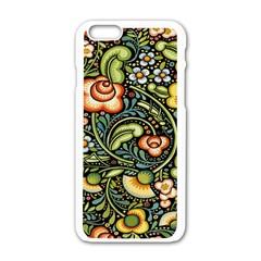 Bohemia Floral Pattern Apple Iphone 6/6s White Enamel Case